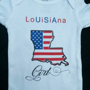 Louisiana Girl Onesie USA 4th of July