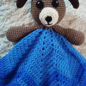 Puppy Lovey Baby Blanket, Baby Blanket, Comfort Blanket, Lovey Blanket, Security Blanket, Baby Shower Gift
