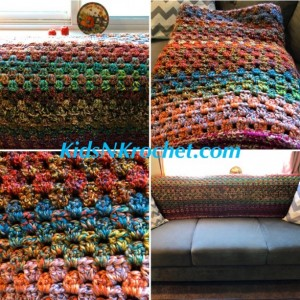 Throw Afghan / heavenly fall colors / earth tones