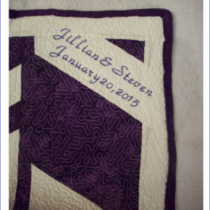 Personalized Signature Quilt, Wedding, Graduation, Annivsery, Baby Shower Gift - 36 x 36