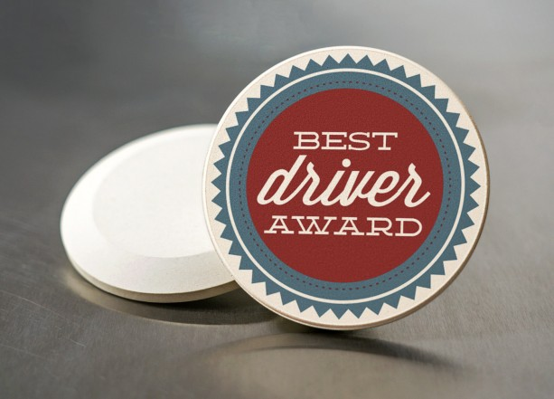 Funny Car Gift - Sandstone Coaster - Best Driver Award