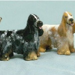 Hevener Collectible English Cocker Dog Figurine