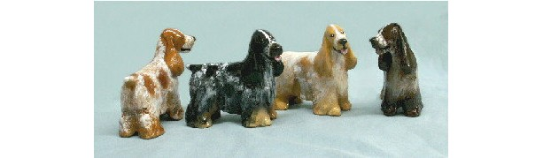 Ron Hevener Collectible English Cocker Dog Figurine