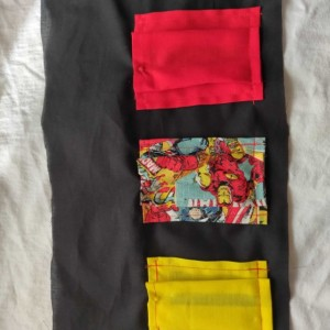 Marvel Comics Dice Bag with Liner and Closable Pockets or Clutch Bag