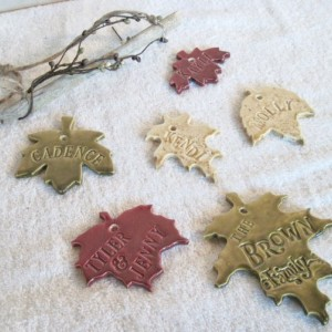 Autumn Leaves Personalized Family Tree Wind Chime