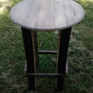 Whiskey Barrel Stave Table ( free set of twig candle holders with purchase )