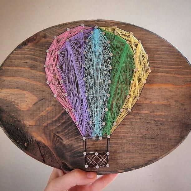 Hot Air Balloon String Art Customize It Aftcra