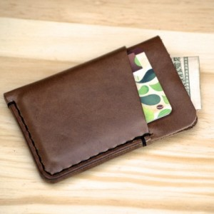 Leather Card Holder, Minimalistic Leather Wallet, Leather Card Wallet, Chromexcel Wallet, Horween Slim Leather Wallet, Natural Chromexcel Wallet