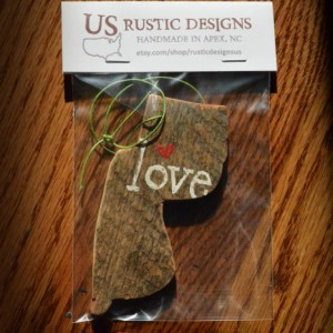 Rustic Custom New Jersey Ornament