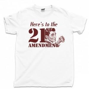 21st Amendment Men's T Shirt, Prohibition Speakeasy Hooch Drinking Moonshine Unisex Cotton Tee Shirt