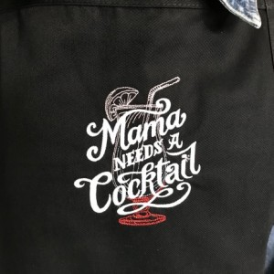 MAMA NEEDS A COCKTAIL is this Apron Theme for the Beverage Loving Women in Your Life. Perfect Gift for All Who Like to Indulge Now and Then