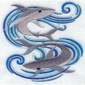 6 piece bath towel matching embroidered set Sharks and waves Great for Boys bathroom