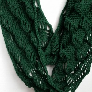Scarf Infinity Cowl Diamond Crocheted (As Seen on Stephanie Drapeau)