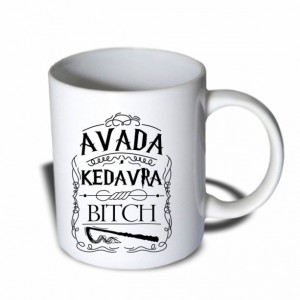 Avada Kedavra Bitch Harry Potter Mug 11 oz Ceramic Mug Coffee Mug