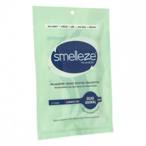 SMELLEZE Dead Animal Smell Eliminator Deodorizer Pouch: Rid dead rat smells, dead animal odors, dead mouse odor & dead rodent smell - even in wall