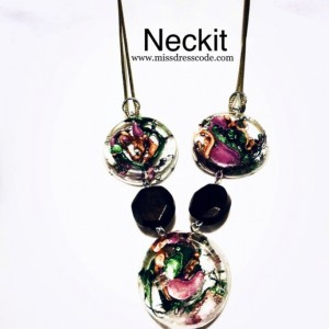 Resin Disks Statement Necklace