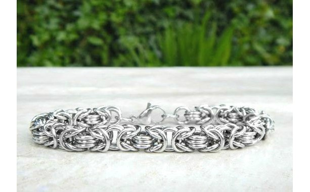 11th Anniversary Stainless Steel Bracelet, Anniversary Gift for Wife, Steel Anniversary, Wedding Anniversary, Eleventh Anniversary, Steel