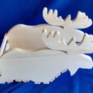 Wooden Moose Basket / Planter