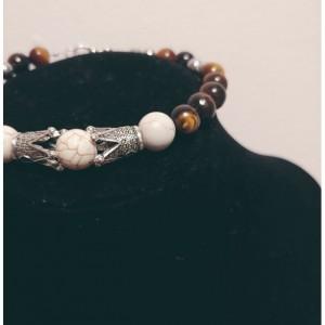 Men Howlite Stone King Bracelet