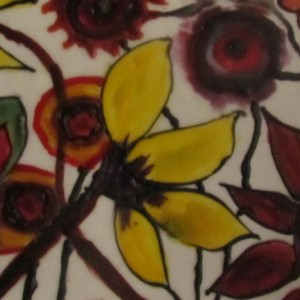 Garden - Floral Encaustic Modern Pop Wax Art Painting - Free Shipping - 12 x 12