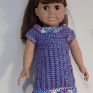 purple dress for american girl doll