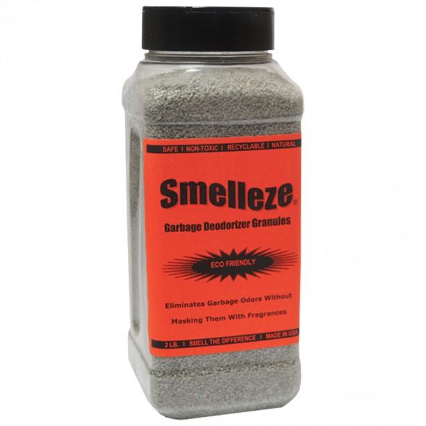 SMELLEZE Eco Trash Smell Removal Deodorizer: 50 lb. Granules Destroy Dumpster Stink