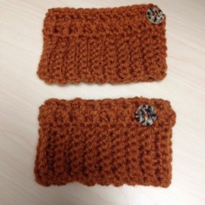 Crochet Boot Cuffs/burnt orange