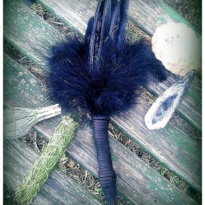 Smudge Fan-Black Crow-Raven Feather Medicine-Storytelling Fan, Cruelty-Free