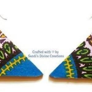 Ankara Prints, Cowrie Ankara Earrings, Cowrie Shell Earrings, Cowrie Earrings, Cowry Fabric Earrings, Ankara Earrings, Tribal Shell Earrings
