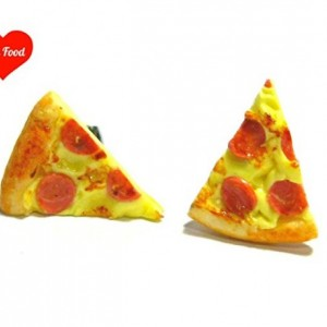 Pepperoni Pizza Slice Earrings