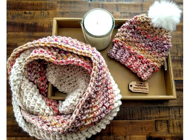 Colorful infinity scarf / cowl