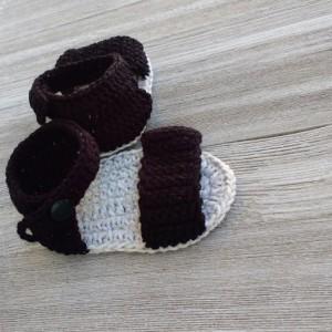 Crochet sandals baby girl.