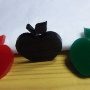 apple charms,laser cut charms,kawaii charms,acrylic charms