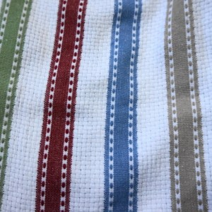 Marsala Dining Car and Stripes Crochet Top Kitchen Towel, Set of 2