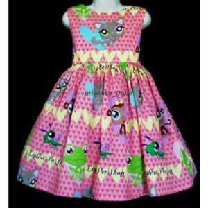 NEW Handmade Hasbro Littlest Pet Shop Lilac Dress Custom Sz 12M-14Yrs