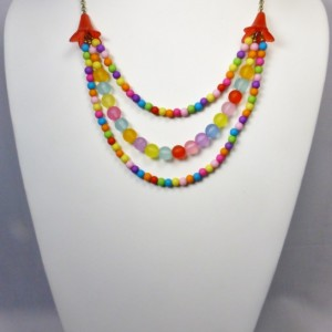 141 -Happy Necklace - Festive - Rainbow Colors