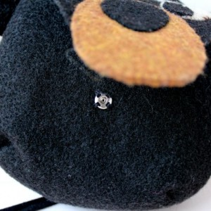 Black Bear Wool Felt Purse