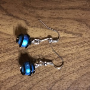 Blue and Black Earring