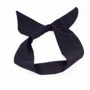 Black Solid Colored Wired Headband, Rockabilly Style, Rockabilly inspired, 50's and 60's style headbands, Handmade