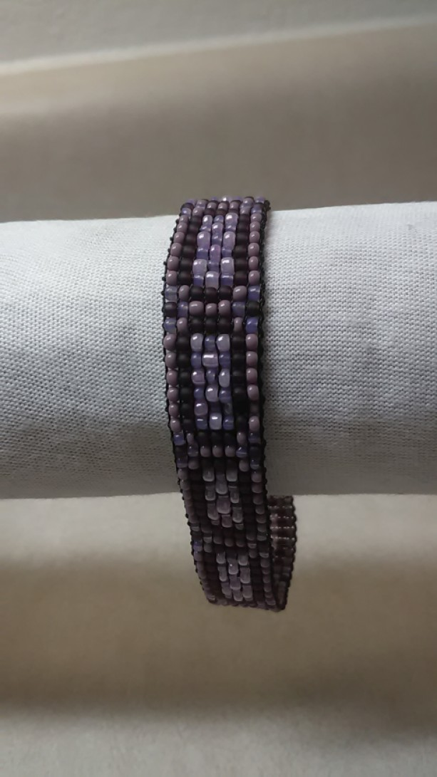 Four color purple bracelet