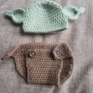 NEW adorable Baby Alien hat and diaper cover with added option for a little girl!