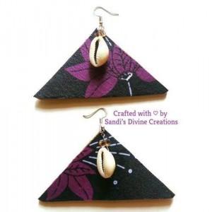 Cowrie Shell Earrings, Ankara Earrings, Cowrie Earrings, Ankara Fabric Earrings, African Print Earrings, Cowrie Shell, Tribal Print Earrings