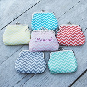 Glitter Chevron Coin Purse