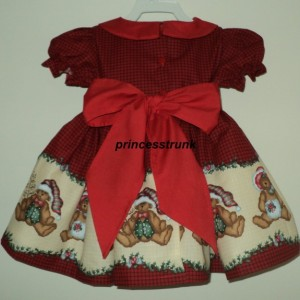 NEW Handmade Daisy Kingdom Teddy Bear Christmas Border Dress Deluxe Custom Size