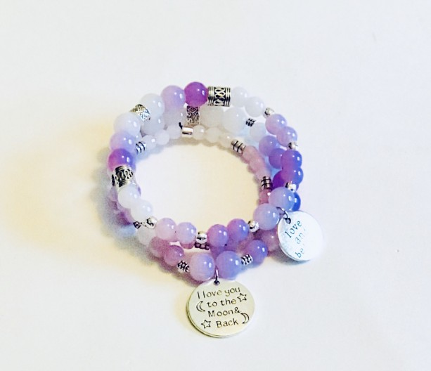 Purple Ombré Bracelet Set