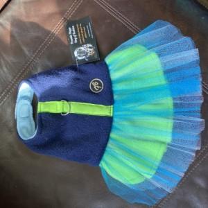 "XXS Blue Green Stripe Tutu 13-14"" girth"