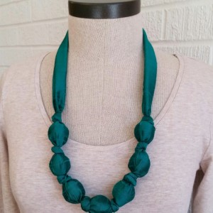 Green Silk Baby-Safe Necklace - Free Shipping