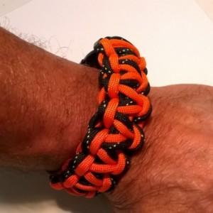 Black and orange Double Cobra bracelet