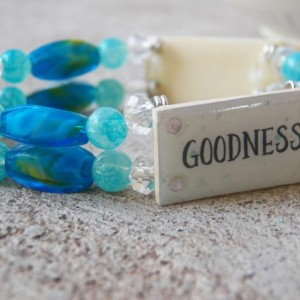 Truth Beauty Goodness Bracelet, Turquoise