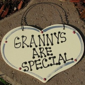 Handmade Wooden  Large Heart 1006 Grannys Are Special